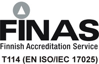 FINAS Finnish Accreditation Service - TXXX (EN ISO/IEC 17025)